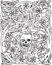 Small Picture Halloween Coloring Pages For Adults By Downloading This File