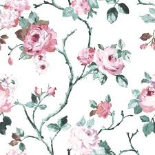 Flower Wall Paper Border Pink Floral Wallpaper Vintage Wallpaper Floral Wallpaper With Pink