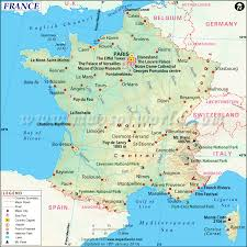 france map printable and detailed map of france