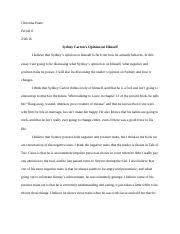 what kind of person is sydney carton ³ind evidence from the  2 pages sydney carton essay