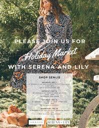 Serena And Lily Design Shop Atlanta In December Holiday Market With Serena Lily Senlis