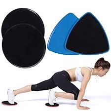 i sport 2x core exercise sliders gliding discs dual sided sliding plate home workout equipment