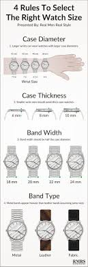 4 Rules On Watch Size Infographic How To Buy The Right