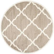 safavieh lowell wheat beige round indoor outdoor area rug common 9 x