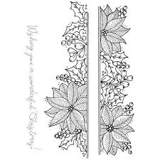 Poinsettia Designs Julie Hickey Designs A6 Stamp Set Poinsettia Border