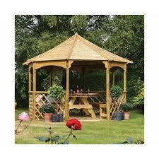 rowlinson buckingham wooden garden gazebo garden furniture outdoor living furniture storage