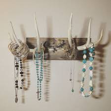 Jewelry Holder Wall Mounted Antler Jewelry Holder Real Deer Antler Jewelry Holder