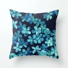 navy blue throw hand painted fl pattern in teal pillow area rugs 8x10 navy blue throw pillow with down alternative insert blanket cotton