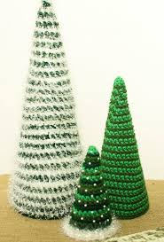 Crochet Christmas Tree Pattern Delectable Insanely Fast And Easy Christmas Trees AllFreeCrochet