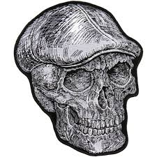 hot leathers 10 skull cap patch
