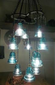 horse shoe glass insulators chandelier glass insulatorsinsulator lightshome ideasrustic western decorwestern