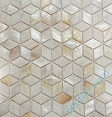 natural white mother of pearl mosaic tiles in diamond s
