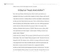 is king lear largely about rebellion gcse english marked by  document image preview