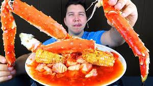 King Crab Legs Seafood Boil • MUKBANG ...