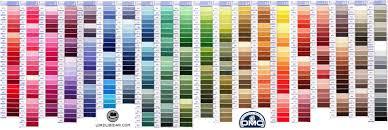 Dmc Shade Color Thread Card Chart With New Dmc Threads Dmc