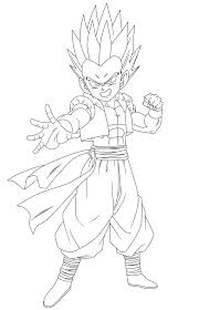 gotenks coloring pages - 100 images - z gogeta coloring page h m ...