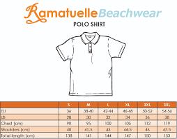 Polo Shirt Size Chart Size Chart Ramatuelle Beachwear