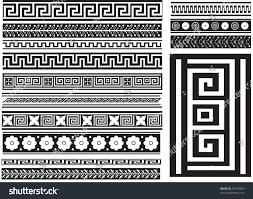 Different Types Of Patterns Stunning Different Types Seamless Greek Patterns Raster Stock Illustration