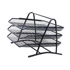 desk office file document paper. Mesh 3 Tier Document Filing Letter Paper Trays Desk Tidy Metal Organiser Risers Office File P