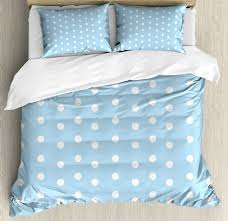 aqua queen size duvet cover set polka dots blueeeeee and white with 2 pillow shams