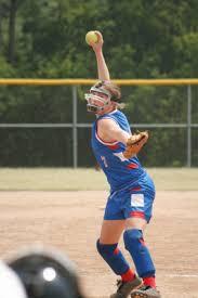 softball pitcher in windup
