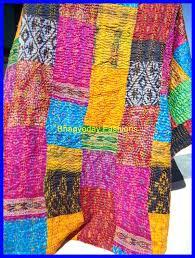 Indian Sari Quilt Uk Indian Sari Blankets Vintage Indian Sari ... & ... Sari Silk Pattol Patchwork Quilts Throw Vintage Kantha Quilt Indian  Sari Quilt Handmade Patchwork Indian Kantha Adamdwight.com