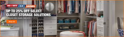 up to 25 off select closet storage solutions