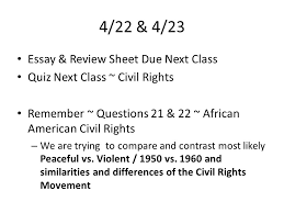 great depression review sheet due now great depression   civil rights movement 4 22 4 23 essay review sheet due next class