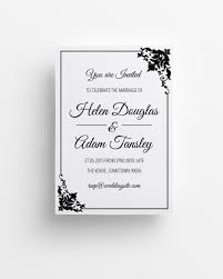 Printable Wedding Invitation Free Printable Wedding Invitations Black And White Download Them