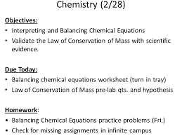 chemical equations 18 chemistry