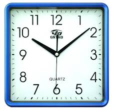 trendy square wall clock  london clock company square glass
