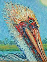 pelican painting pelican after style of van gogh by dwain ray