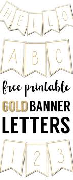 Free Printable Banner Letters Templates Free Printables From Paper