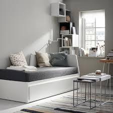 Flekke Lit Banquette 2 Places Structure Blanc Ikea