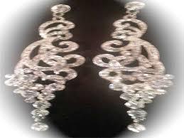 long swarovski crystal earrings chandelier earrings wedding for chandelier earrings silver