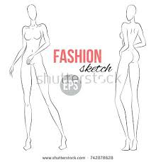 Body Template For Designing Clothes Download Figure Sketch Different Poses Template For Drawing Stylist