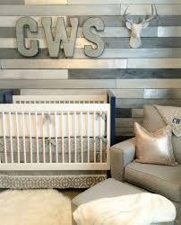 Baby Monogram Wall Decor Design Reveal Metallic Wood Wall Nursery Project Nursery