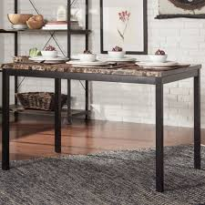 Darcy Faux Marble Black Metal 48-inch Dining Table by iNSPIRE Q Bold - Free  Shipping Today - Overstock.com - 16558378