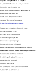 Dog Aspirin Dosage Chart Tylenol Ibuprofen Schedule Not Breaking Fever Pdf