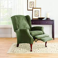 sure fit stretch suede wing chair recliner slipcover