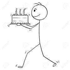Cartoon Stick Man Drawing Conceptual Illustration Of Man Walking