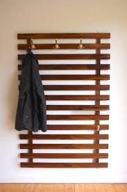 Large Coat Rack With Shelf Possible to DIY Large Danish Modern wall mounted coat rack c100 97