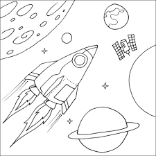 Small Picture Space coloring pages rocket ship and planets ColoringStar