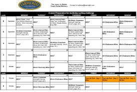 Weekly Fitness Plan Template Read Six Week Cycling Training Plan ...