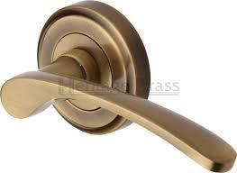 herie br sophia door handle on rose antique br