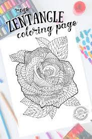 Pages to color for girls and boys, printable activities for kids, as well as educational worksheets. Free Zentangle Flower Pattern Rose Printable Coloring Page