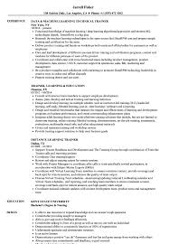 Learning Trainer Resume Samples Velvet Jobs