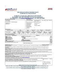 car insurance certificate