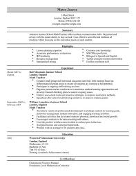 sample cv starter  sample cv page  uk resume example    teacher resume examples uk teacher education resume full