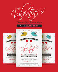 extremely professional newest flyer templates  creative valentine celebration flyer template design